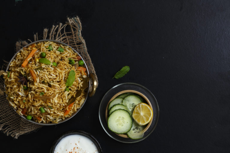 Veg biryani is totally a thing if you want it to be